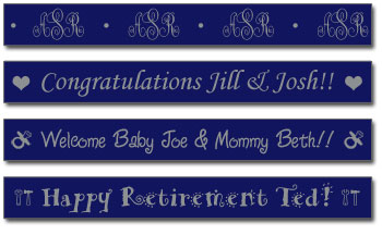Personalized Tape - Dark Blue