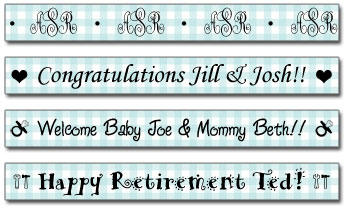 Personalized Pool Gingham Tape