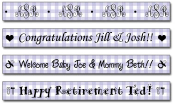 Personalized Plum Gingham Tape