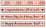 Personalized Papaya Gingham Tape