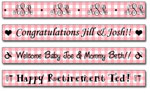 Personalized Strawberry Gingham Tape