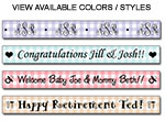 Personalized Gingham Tape