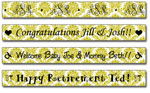 Personalized Chartreuse Damask Tape