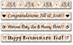 Personalized Khaki Damask Tape