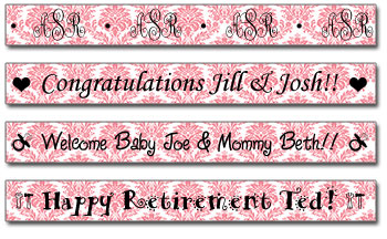 Personalized Strawberry Damask Tape<br>